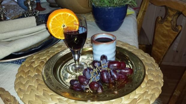 Mulled wine med blits