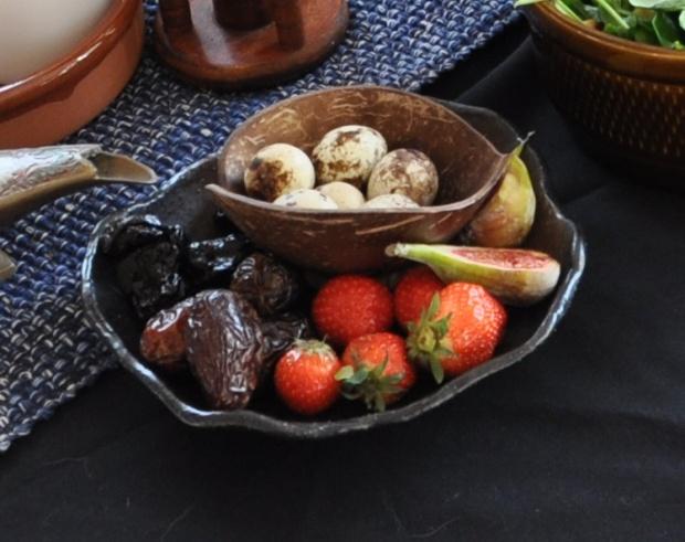Vaktelegg, daddler, jordbær osv.